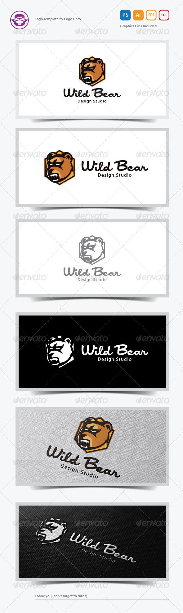 GraphicRiver Wild Bear Logo Template 6390583
