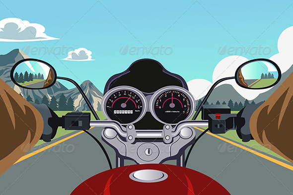 GraphicRiver Riding Motorcycle 6390630