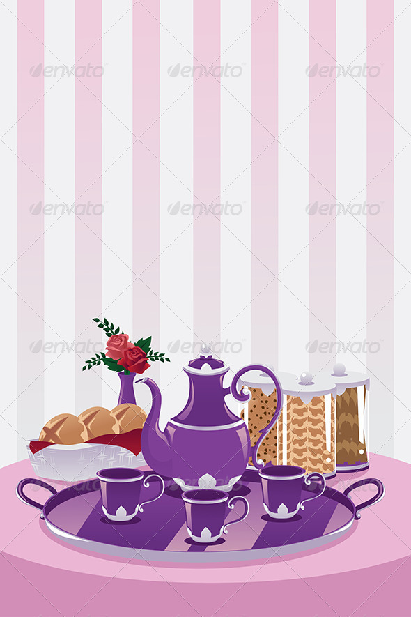 GraphicRiver Teapot and Cups 6390745