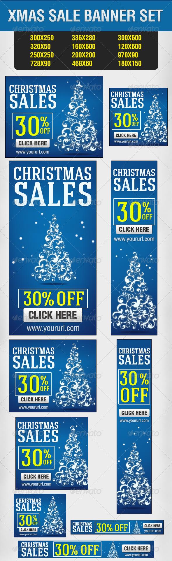 GraphicRiver Christmas Sale Banner Set 6391111