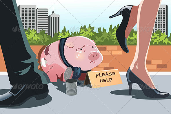 GraphicRiver Piggy Bank Panhandling 6391163