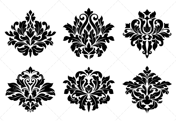 GraphicRiver Decorative Floral Elements and Embellishments 6391172