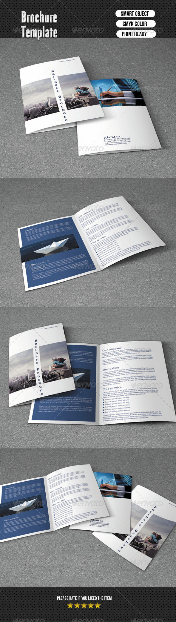 GraphicRiver Bifold Brochure-Business 6393444