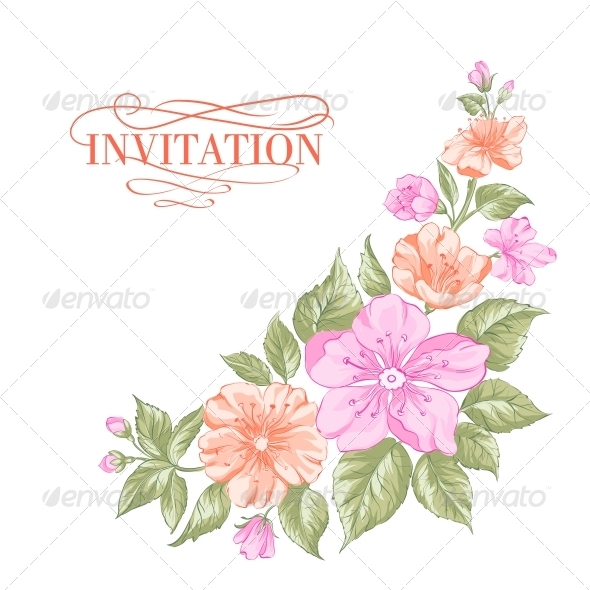 GraphicRiver Sakura Holiday Invitation Card 6393808
