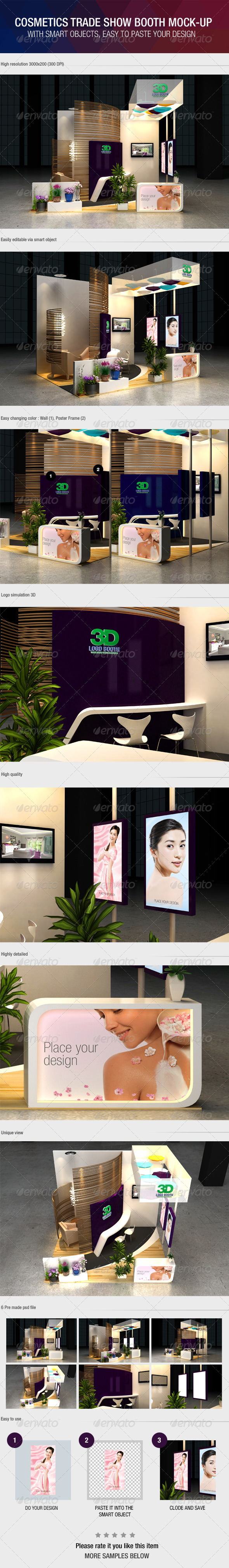 GraphicRiver Cosmetics Exhibition Booth Mock-Up 6387882