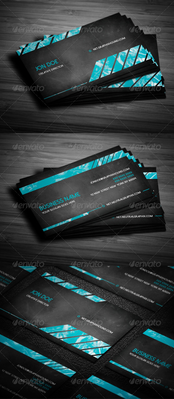 GraphicRiver Grunge Business Card 6358227