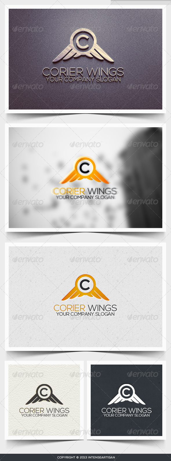 Corier Wings Logo Template - Animals Logo Templates