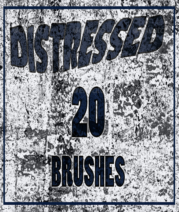 GraphicRiver 20 Distressed Brush Set for Phototshop 6394439
