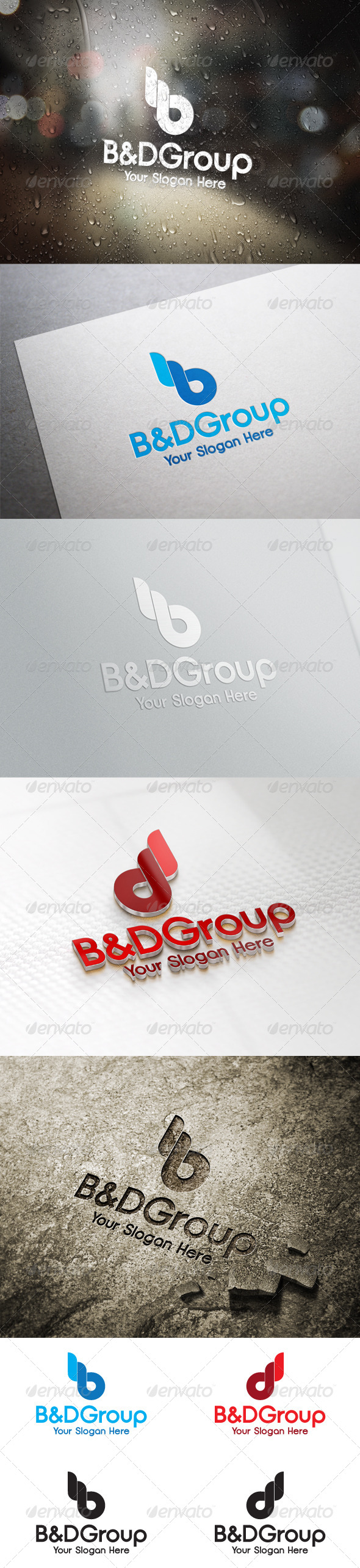 GraphicRiver B D Group Letter Logo Template 6394615