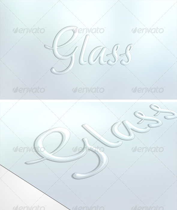 GraphicRiver Elegant Glass Text 6394775