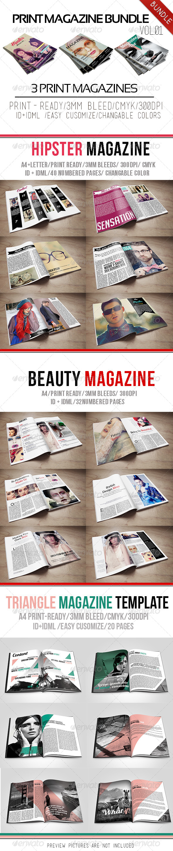 GraphicRiver Print Magazine Bundle Vol.01 6395017