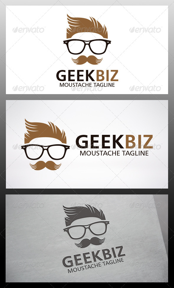 GraphicRiver Geek Moustache Logo 6395033