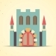 Color Flat Castle Icon  - GraphicRiver Item for Sale