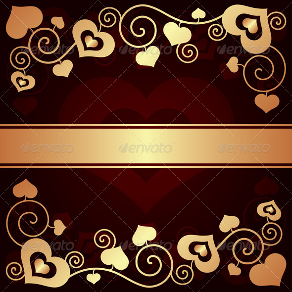GraphicRiver Valentine s Day Background with Hearts 6395489