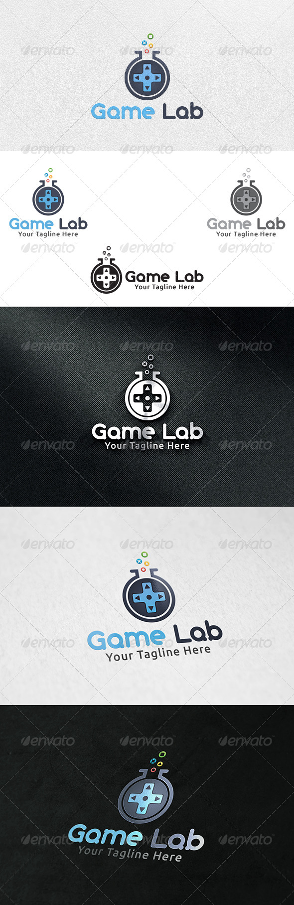 GraphicRiver Game Lab Logo Template 6395656