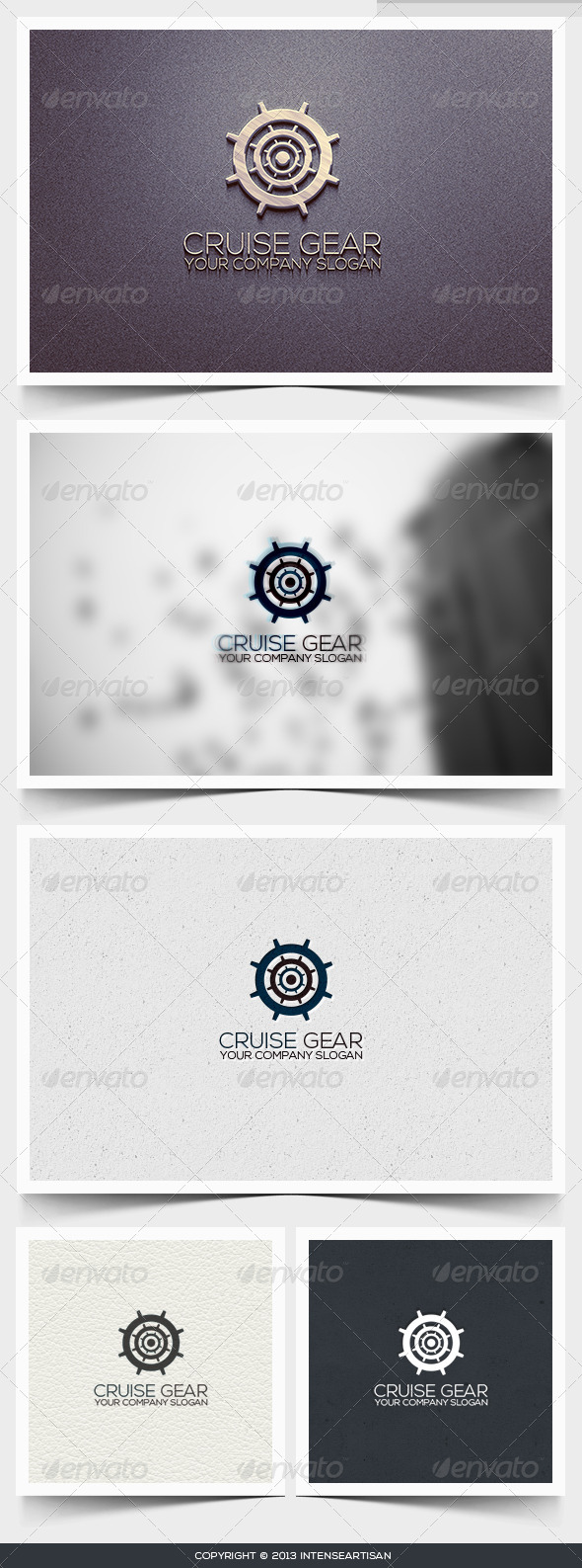 GraphicRiver Cruise Gear Logo Template 6395914