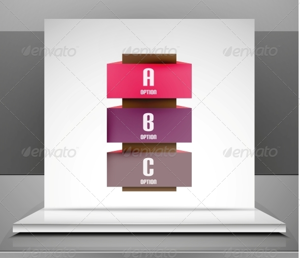 GraphicRiver Modern Vector Business Stripes Infographic Design 6395980