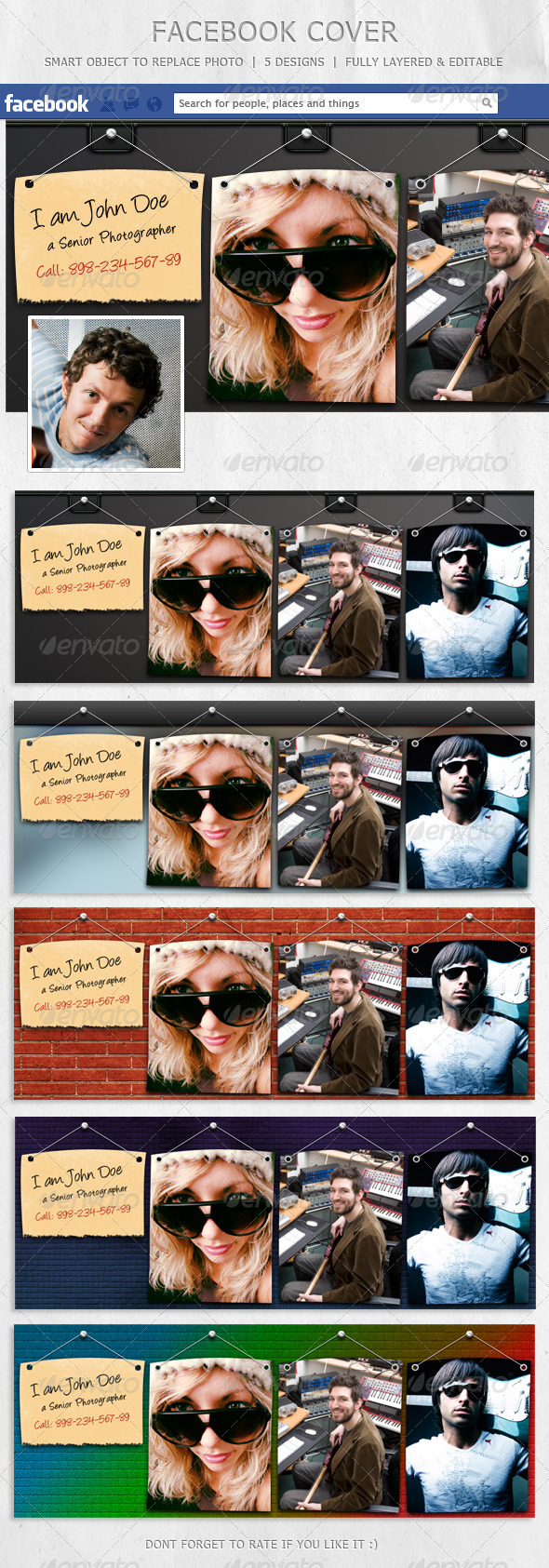 GraphicRiver Facebook Cover Designs 6194537
