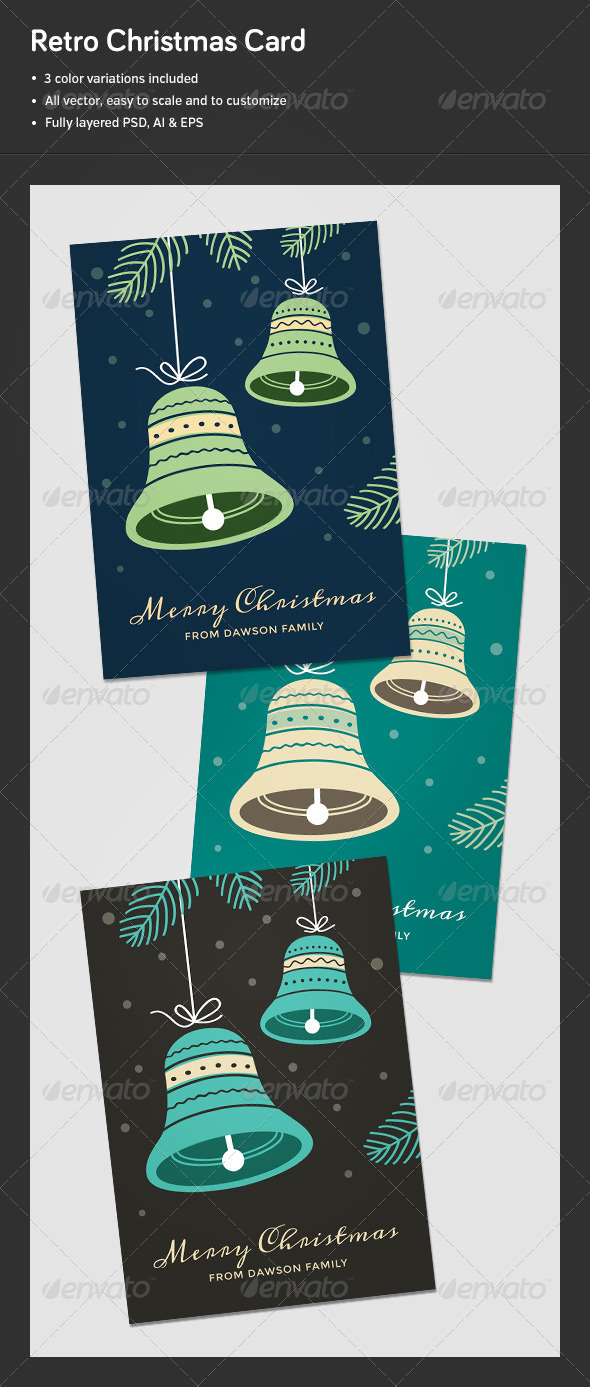GraphicRiver Retro Christmas Card 6396516