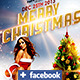 Merry Christmas Flyer + FB Cover  - GraphicRiver Item for Sale