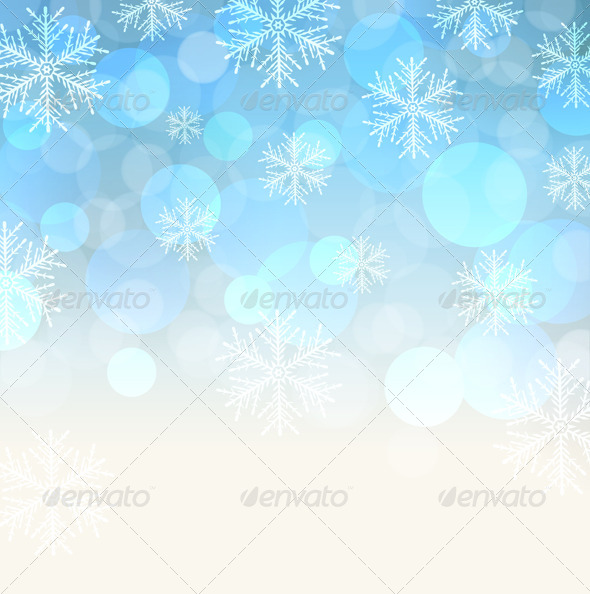 GraphicRiver Blue Snowy Background 6397106