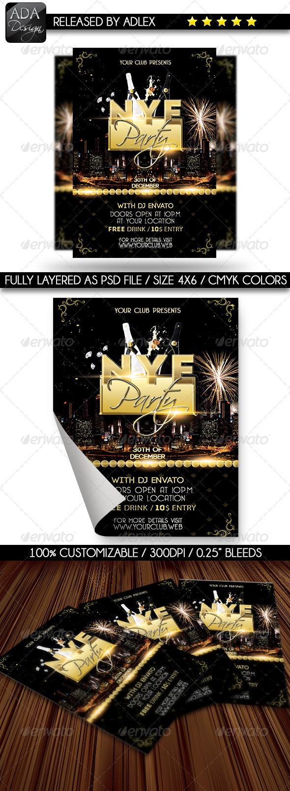 GraphicRiver New Year s Eve Party Flyer 6397112