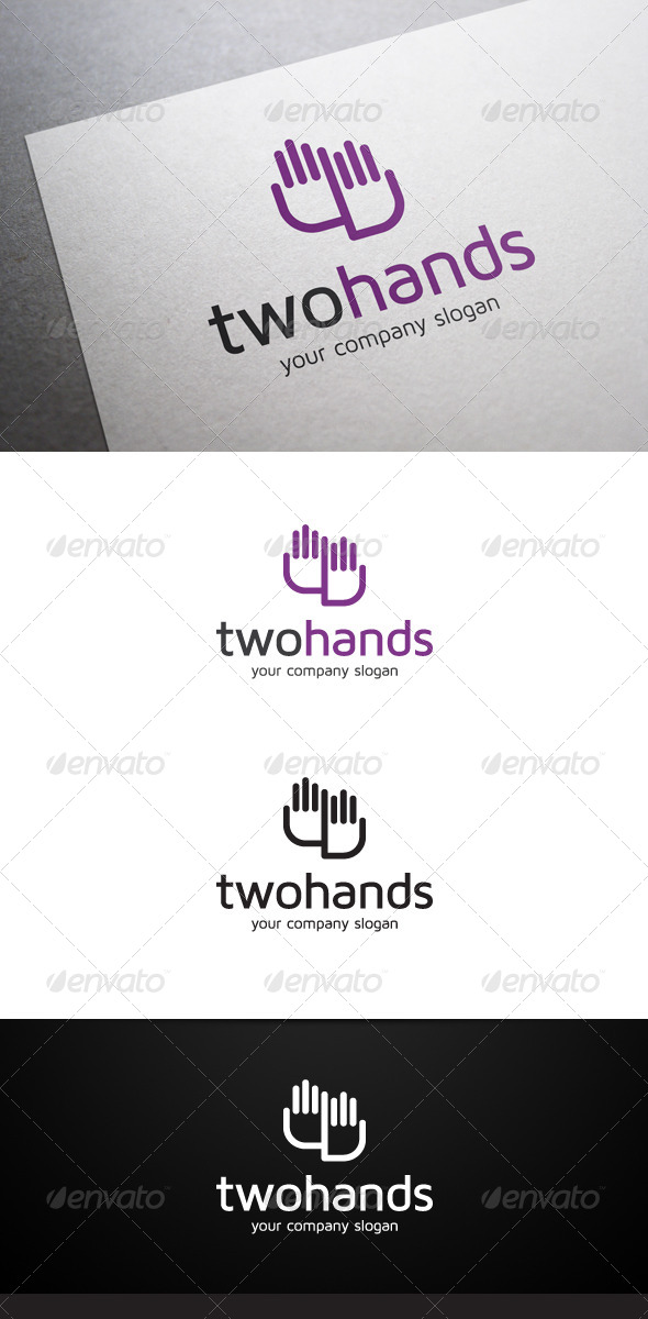 GraphicRiver Two Hands Logo 6398488