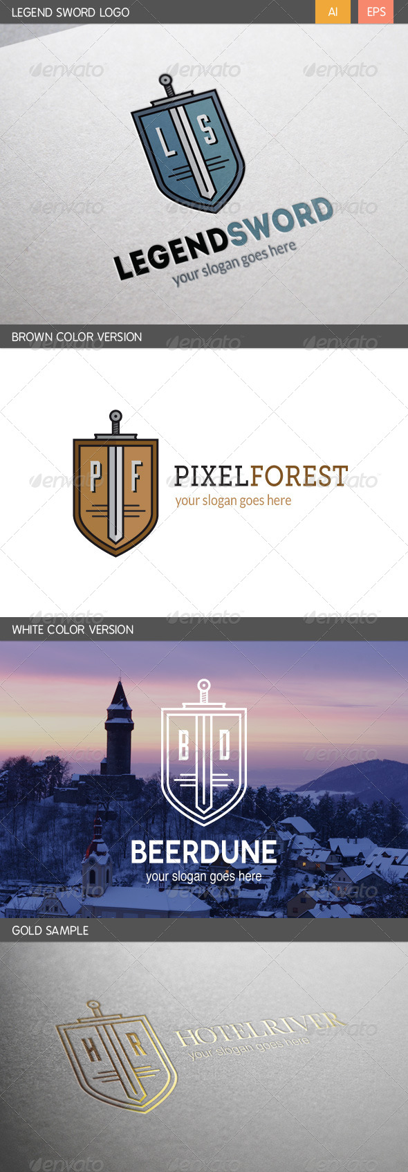 GraphicRiver Legend Sword Logo 6398690