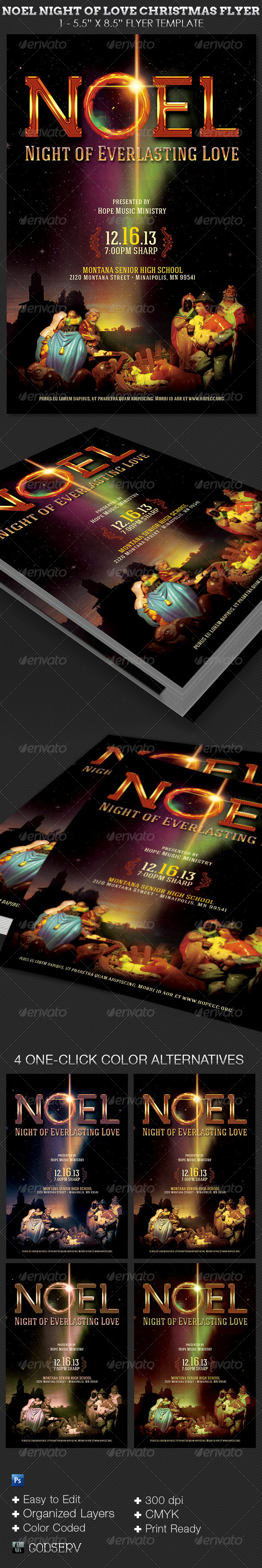 GraphicRiver Noel Night of Love Christmas Flyer Template 6364708
