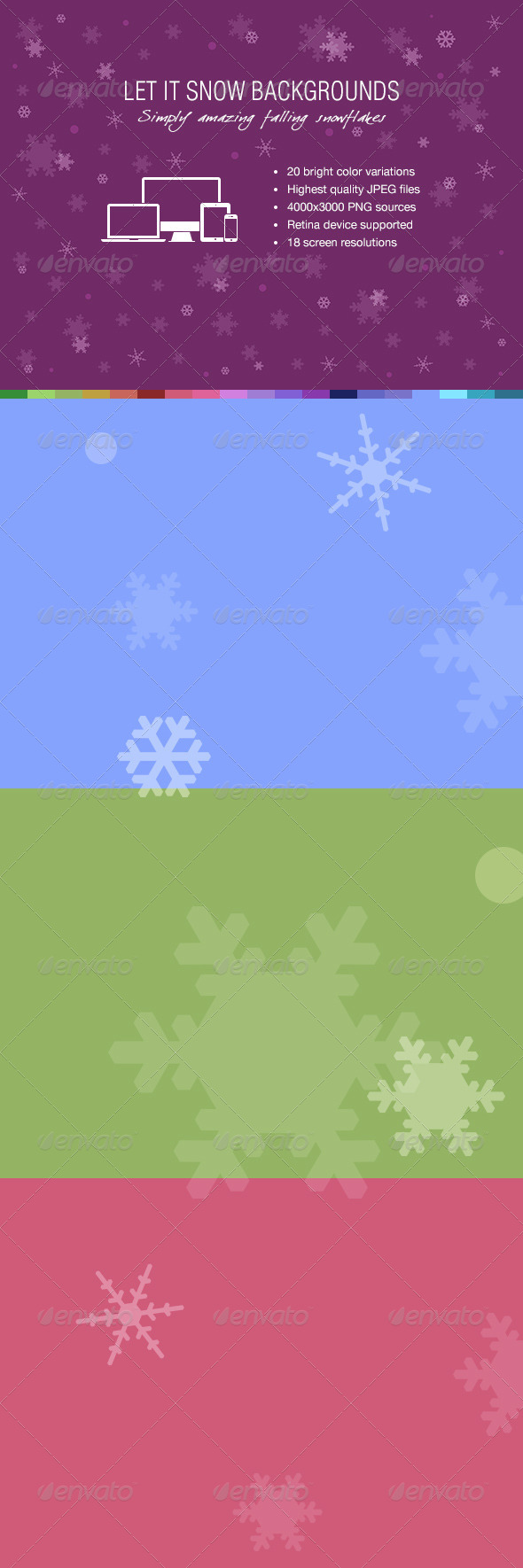 GraphicRiver Let It Snow Backgrounds 6399150