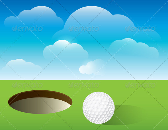 GraphicRiver Vector Golf Background Putting Green 6399331