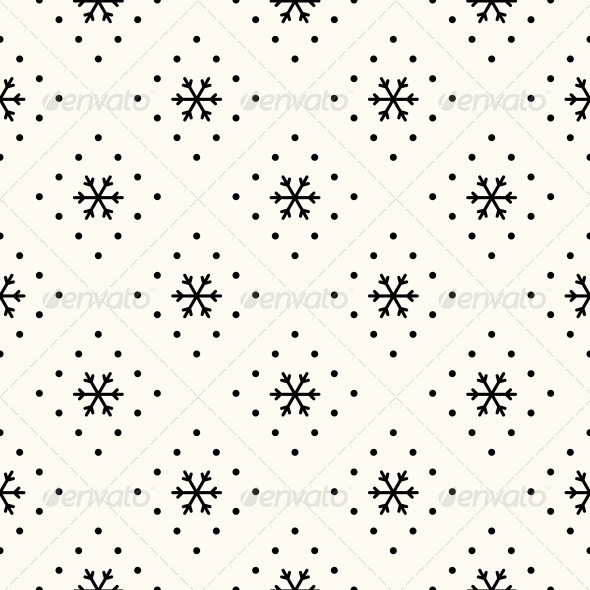 GraphicRiver Vector Seamless Winter Retro Pattern 6399705