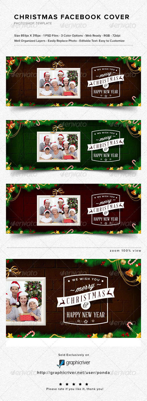 GraphicRiver Christmas Facebook Cover 6399831
