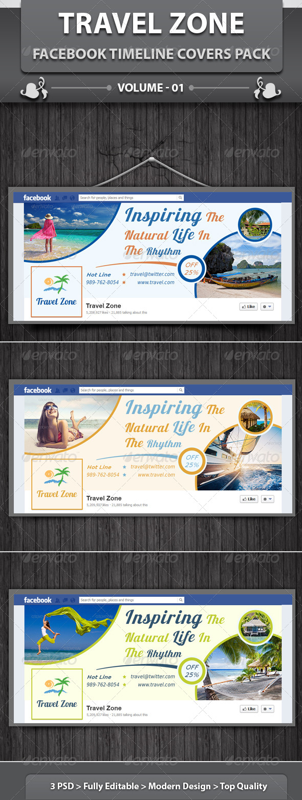 GraphicRiver Travel Zone Facebook Timeline Covers Pack v1 6400040