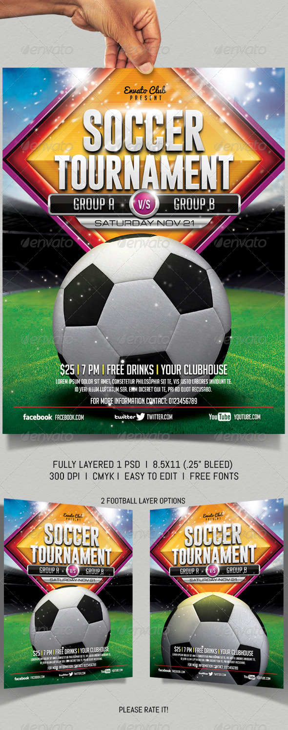 GraphicRiver Soccer Flyer 6400194