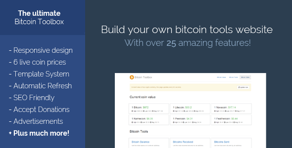 CodeCanyon The Bitcoin Toolbox 6400306