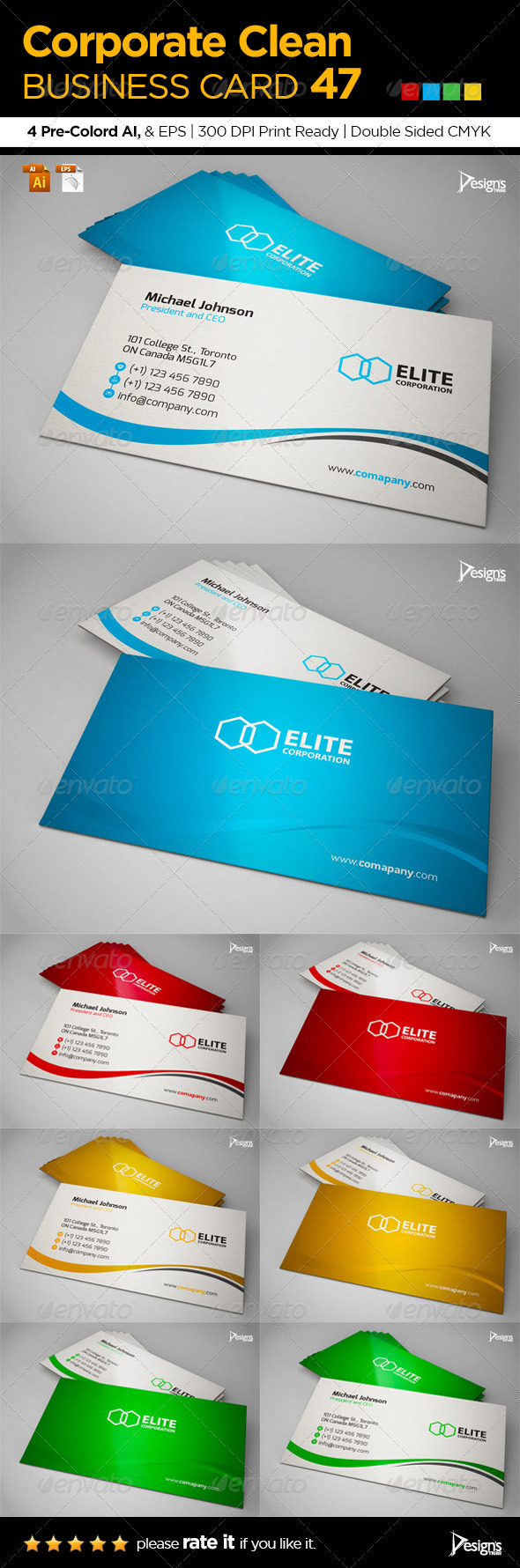 GraphicRiver Corporate Clean Business Card 47 6400570
