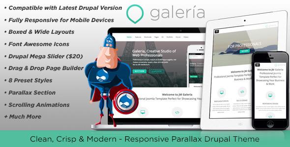ThemeForest Galeria Responsive Creative Drupal Theme 6401610