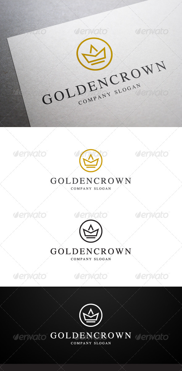 GraphicRiver Golden Crown Logo 6402987