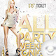 Flyer All Party Weekend Tonight - GraphicRiver Item for Sale