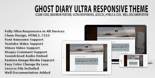 ThemeForest Ghost Diary Ultra Responsive Theme 6367884