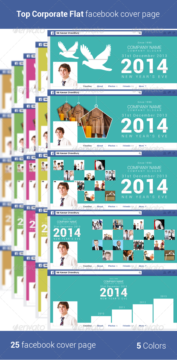 GraphicRiver Top Corporate Flat Facebook Cover Page 6394485