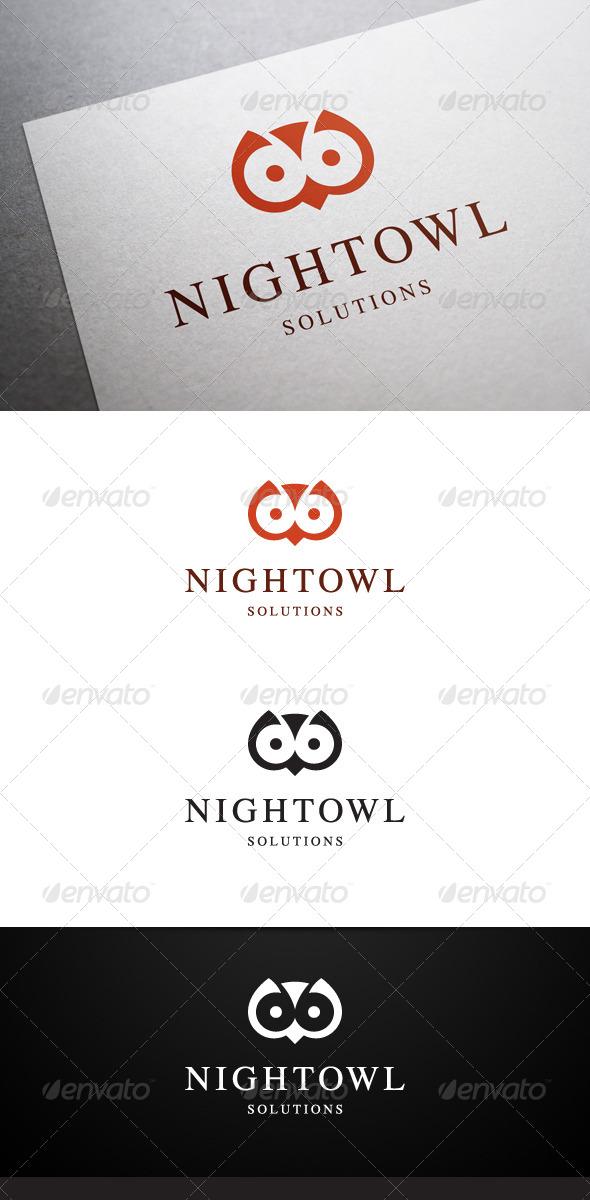 GraphicRiver Night Owl Logo 6405187