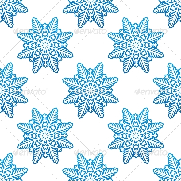 GraphicRiver Snowflakes Winter Seamless Pattern Background 6405192
