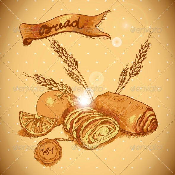 GraphicRiver Bakery Sketches in Vintage Style 6405249