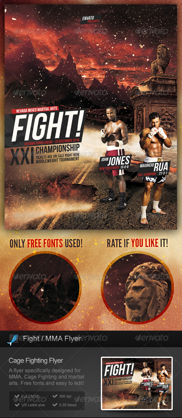 GraphicRiver Cage Fighting MMA Flyer 6405303