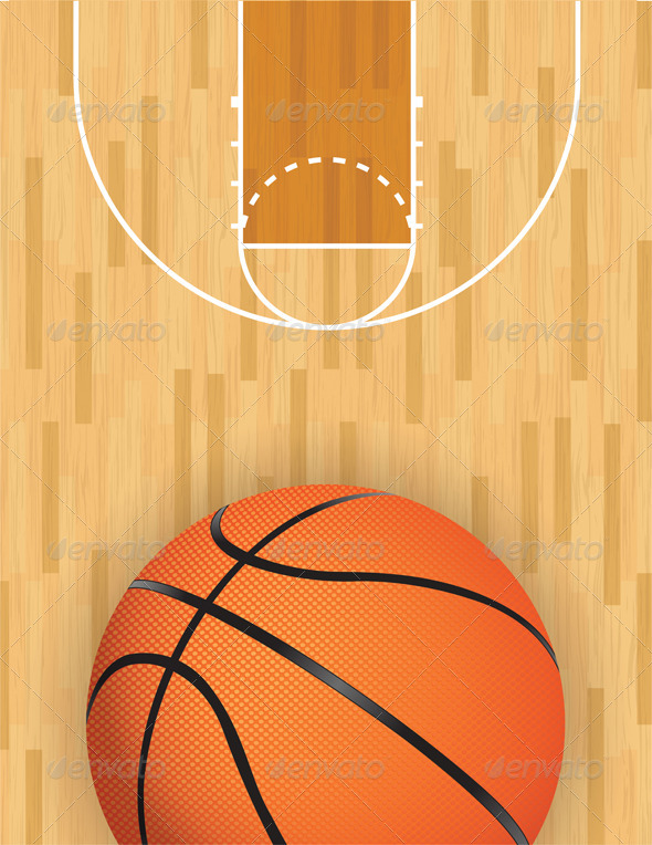 GraphicRiver Vector Basketball and Hardwood Court 6405345