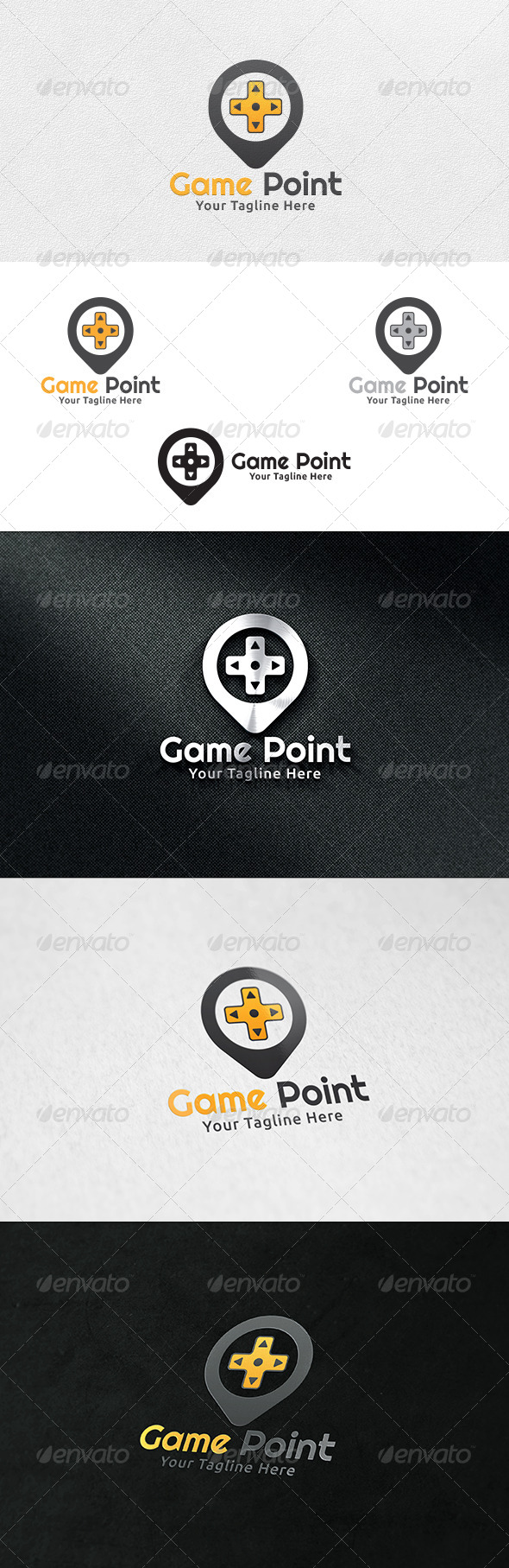 GraphicRiver Game Point Logo Template 6405993
