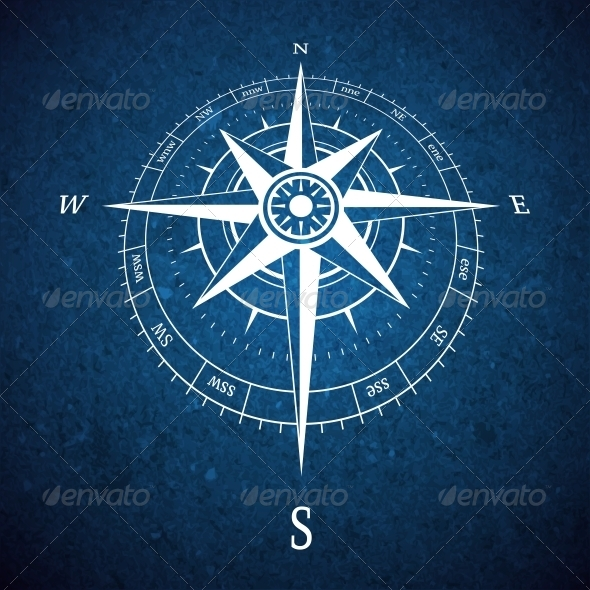 GraphicRiver Compass Road Sign 6406232