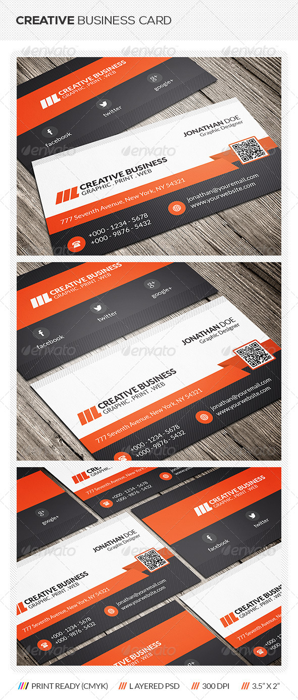 GraphicRiver Creative Corporate Business Card 6406251